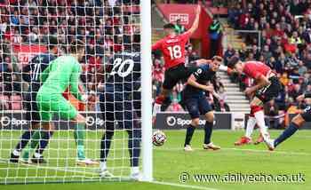 Tino Livramento after scoring career-first goal, Southampton