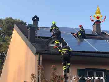 Spazzacamino bloccato sul tetto, a Tradate intervengono i Vigili del Fuoco - Prima Saronno