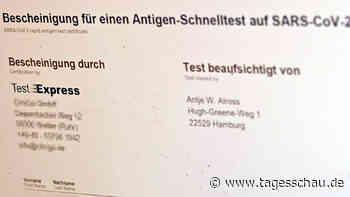 """Coronatest-Bescheinigungen - Ermittlungen gegen """"Test-Express"""""""