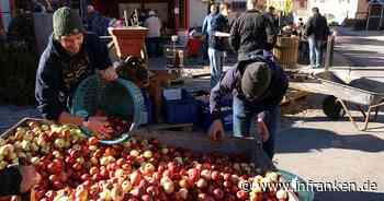 Frisch gepresster Apfelsaft bei der Possenheimer Kirchweih