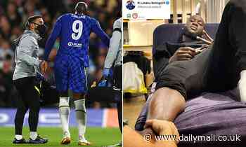 Romelu Lukaku posts injury update as he receives treatment for twisted ankle suffered against Malmo