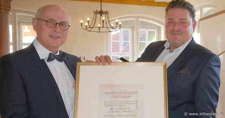 Gerhard Schenkel einziger Ehrenbürger Sulzfelds im 21. Jahrhundert