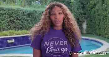 Serena Williams breaks down in tears while making video announcement about friend