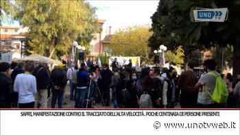 Sapri, manifestazione contro il tracciato dell'AV Battipaglia - Praja. Poche centinaia di persone presenti - Uno Tv Web