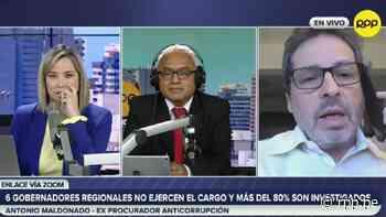 Antonio Maldonado: Hay que limitar el 'poder discrecional' de los gobiernos regionales para combatir la corrupción - RPP Noticias