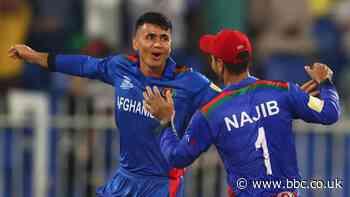 T20 World Cup: Afghanistan thrash Scotland by 130 runs in Sharjah - BBC Sport