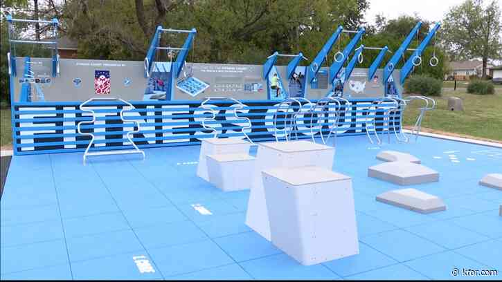 New outdoor fitness court in Norman provides free gym option for community to get fit