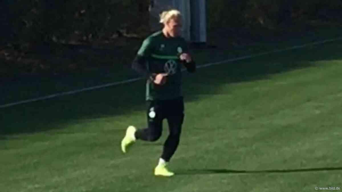 VfL Wolfsburg: Zwei Monate nach Kreuzbandriss: Schlager läuft wieder - BILD
