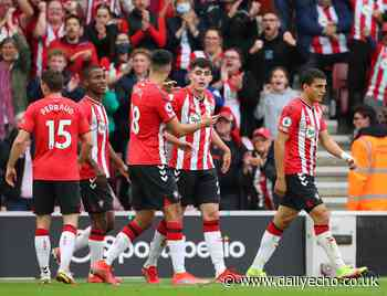 Chelsea pal Tino Livramento and Armando Broja at Southampton