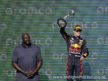 Formel 1: USA-Rennen: Gratulation von Shaq an Sieger Verstappen - Bietigheimer Zeitung