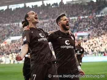 2. Liga: St. Pauli festigt Führung - Spitzenteams im Gleichschritt - Bietigheimer Zeitung