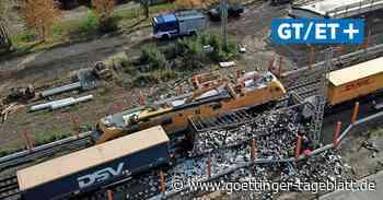 Brand von Güterwaggon: Bahnstrecke bei Sarstedt noch bis Mittwoch gesperrt