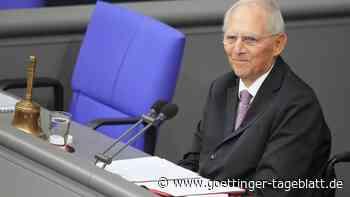 """Schäuble ergriffen: """"Bringen Sie mich bitte nicht zu sehr in Rührung"""""""
