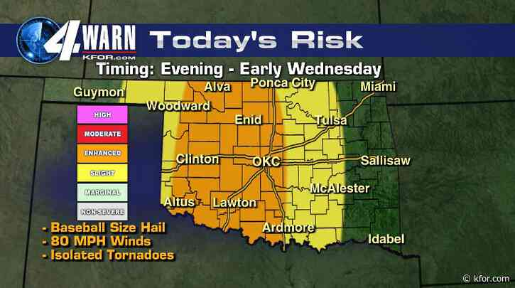 Severe Weather Expected Tuesday Night