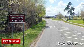 Motorcyclist dies after crash with car on A93 in Aberdeenshire