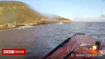 Man rescued from rocks after kayak capsizes on Solway Coast