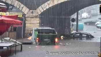 Schwere Überschwemmungen auf Sizilien: Zwei Menschen ertrinken in den Fluten