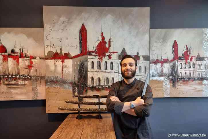 """Hij leerde de stiel in een gerenommeerd restaurant in Tsjetsjenië, nu opent Turpal (22) samen met zijn vrouw sushirestaurant: """"Alles wordt met passie en zin voor perfectionisme gemaakt"""""""