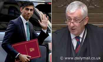 Sir Lindsay Hoyle blasts Rishi Sunak over pre-Budget announcements
