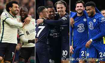 How Chelsea, Liverpool and Manchester City are faring in the Premier League title race