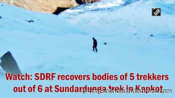 Watch: SDRF recovers bodies of 5 trekkers out of 6 at Sundardunga trek in Kapkot