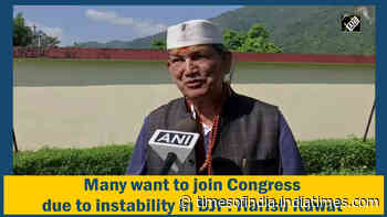 Many want to join Congress due to instability in BJP: Harish Rawat