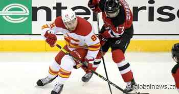 Mangiapane scores twice as Flames make it 4 in a row with 5-3 win over Devils