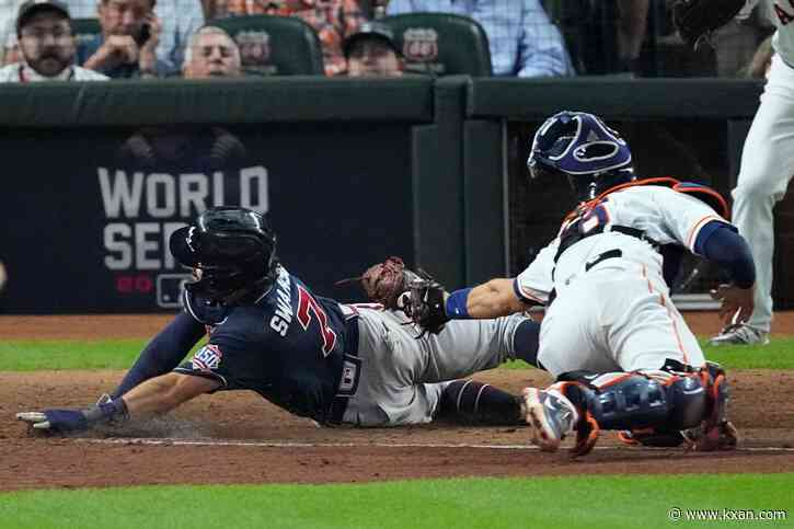 Braves hit Astros early, dropping Houston to 1-0 World Series deficit