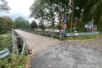 Bailybrug over kanaal in Bocholt afgesloten voor herstelling na ongeval