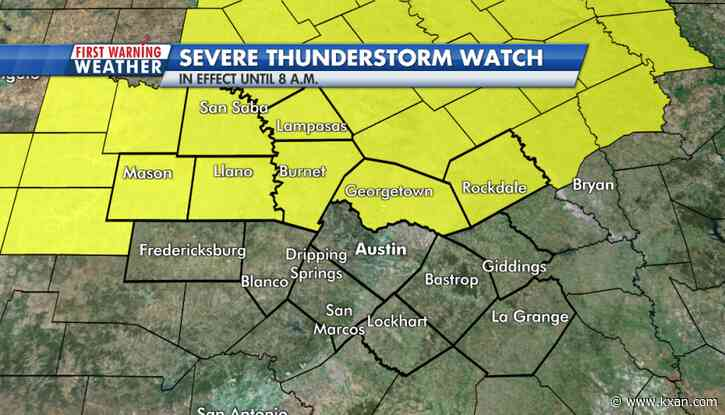 LIVE BLOG: Severe thunderstorm watch issued for portions of Central Texas