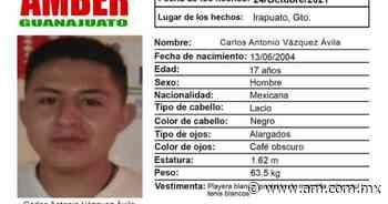 Alerta AMBER Irapuato: Piden ayuda para localizar a Carlos Antonio Vázquez Ávila desaparecido en Irapuato - Periódico AM