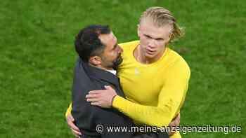 Salihamidzic scherzt während Spiel gegen den BVB über Haaland-Transfer - was Lewandowski wohl davon hält?