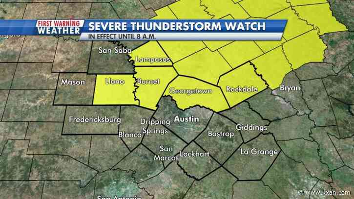 Weather alert: line of strong storms blowing through Central Texas