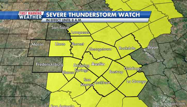 LIVE BLOG: Severe Thunderstorm Watch now includes City of Austin