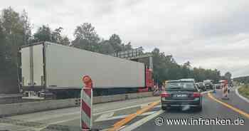 Unfall A73 bei Bamberg: Unfall im Baustellenbereich - Stau aufgelöst