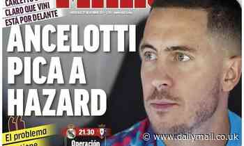 Real Madrid: Carlo Ancelotti has 'poked' Eden Hazard by benching him for El Clasico