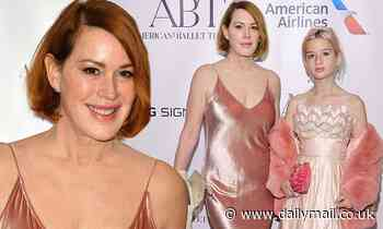 Molly Ringwald stuns in pale pink satin dress at the American Ballet Theatre's Fall Gala
