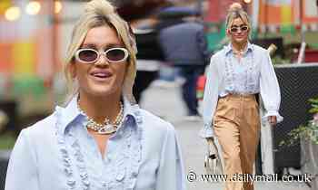 Ashley Roberts looks typically stylish as she leaves work at Global studios