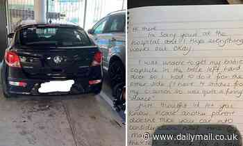 New mum recovering from caesarean leaves a kind note for an inconsiderate driver who parked her in