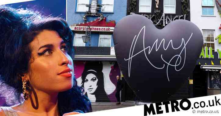Amy Winehouse's Back To Black album's 15th anniversary is marked with huge black heart in Camden