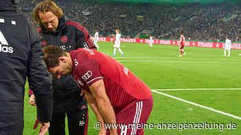 Auch das noch! Verletzung-Schock beim Pokal-Debakel: FCB-Star humpelt angeschlagen vom Platz
