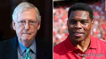 McConnell endorses Herschel Walker's Senate bid in sign of growing GOP establishment support