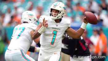 Tua talked with Flores, confident in status as QB