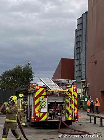 Four crews of firefighters tackle industrial fire in Barlby, Selby