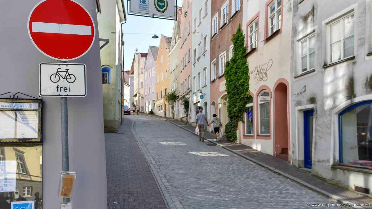 In der Alten Bergstraße in Landsberg darf weiter bergab geradelt werden